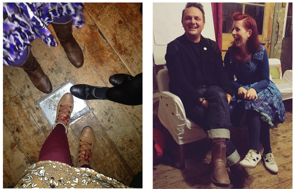 Po-Zu shoes all round. Mark Shayler and Ali Clifford