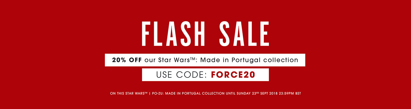 FLASH SALE 20% off Star Wars TM | Po-Zu: Made in Portugal collection