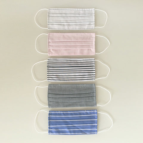 Triple Layer Face Masks - Colour Stripes - 5 Pack