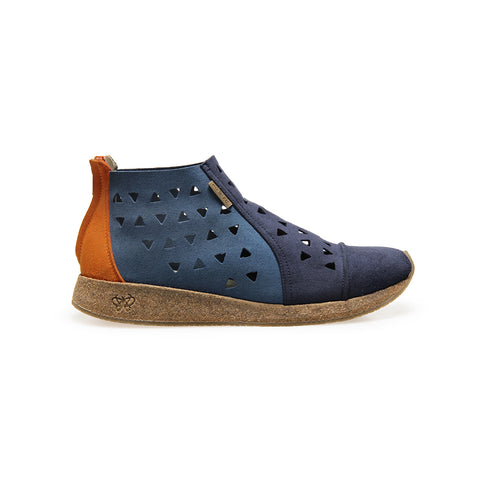 BERMUDA - Indigo - Blue - Orange - Womens