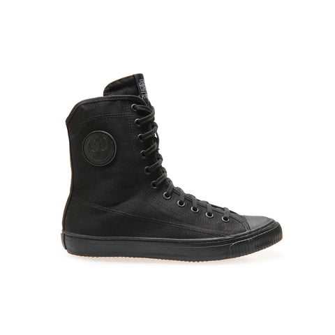 REBEL COMBAT Black - High-Top Sneakers - Unisex