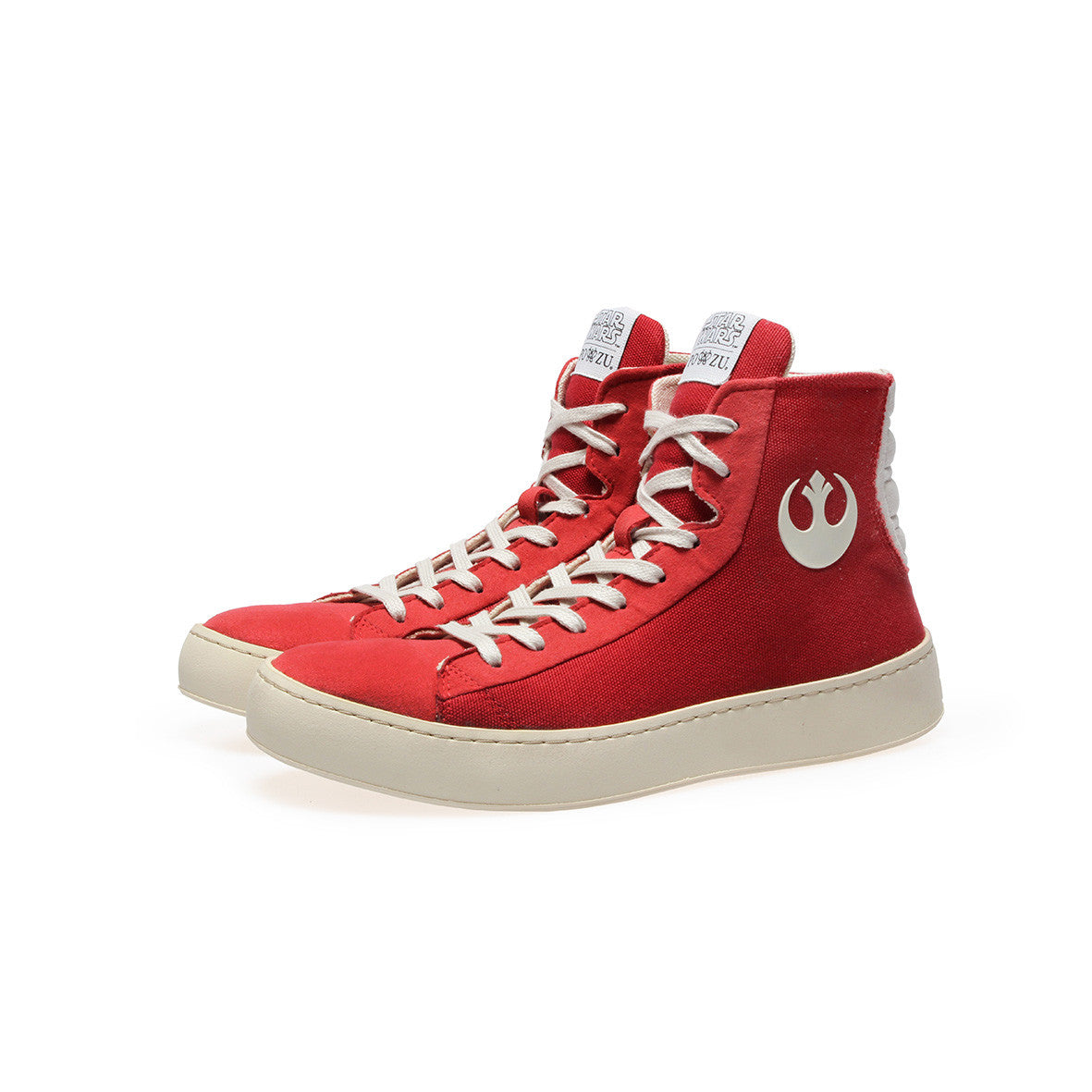 1cb4d56673 OFFICIAL Star Wars Womens RESISTANCE Red High Top Sneaker
