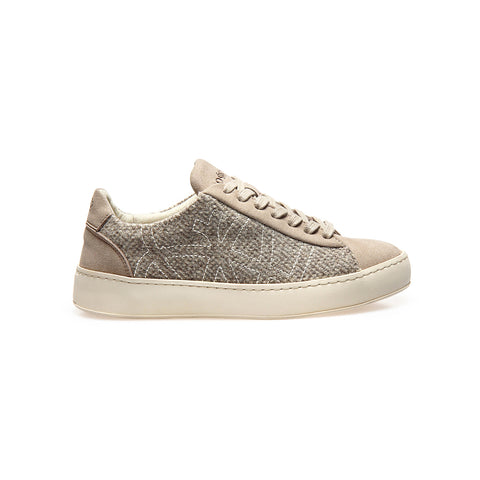 po-zu sneak tweed vegetarian low cut grey