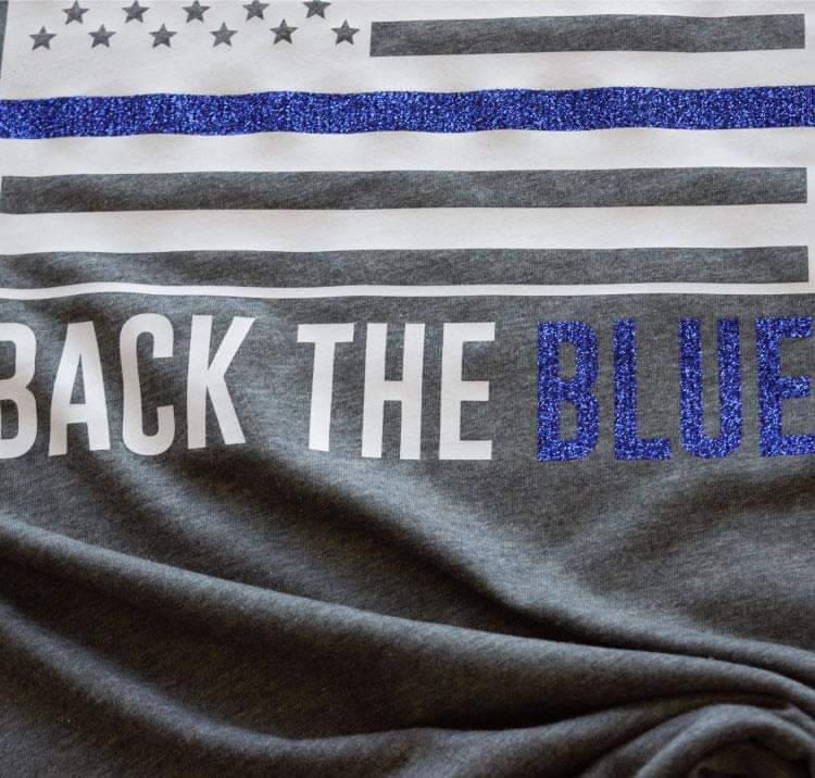 Back the Blue -- Deep Heather