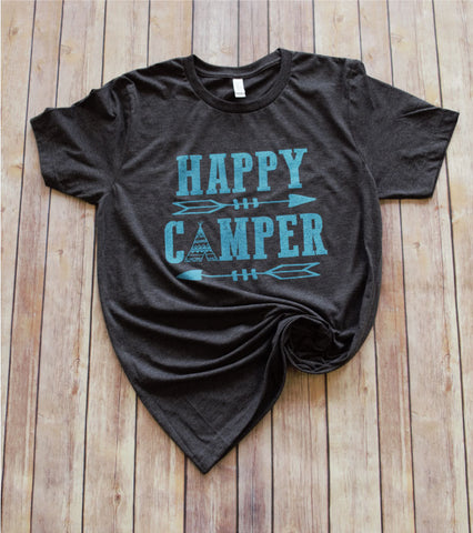 Happy Camper -- Dark Grey