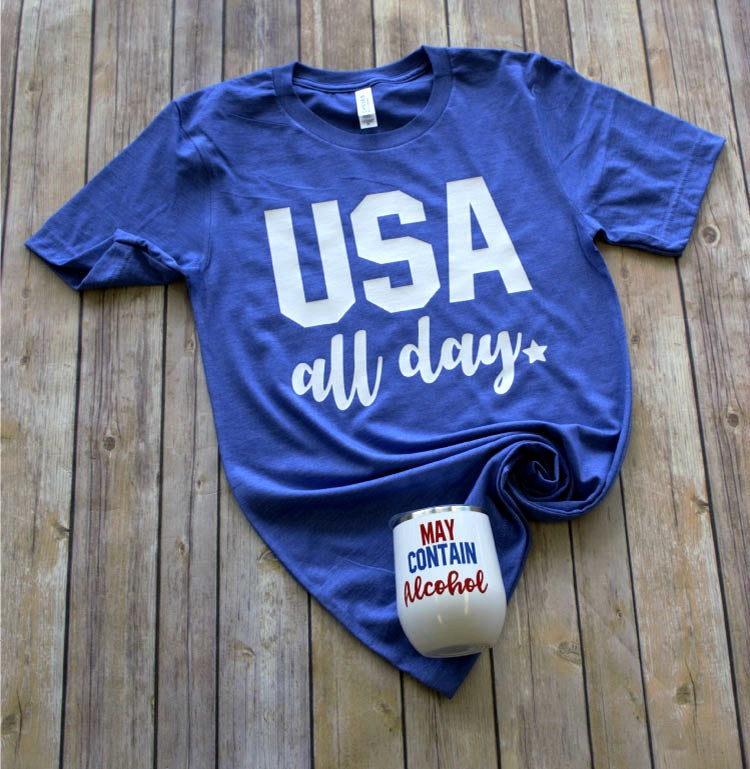 USA All Day Tee -- Royal