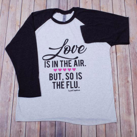 Love/Flu Raglan -- Vintage Black
