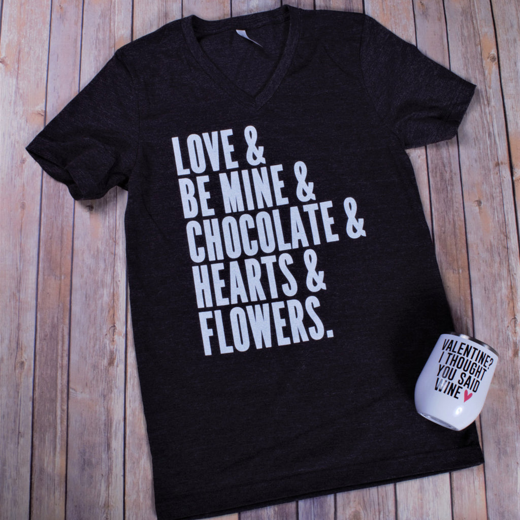 Love & Tee -- Dark Grey VNECK