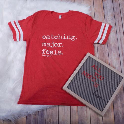 Catching Feels Striped -- Red
