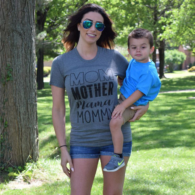 Mom Mommy Graphic Tee -- Deep Heather