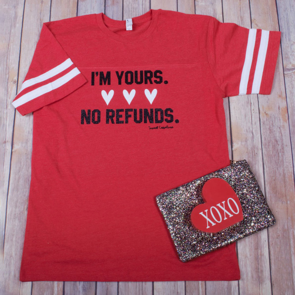 No Refunds Striped -- Red