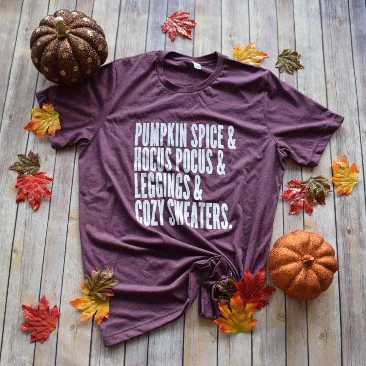 Pumpkin Spice & Leggings Tee