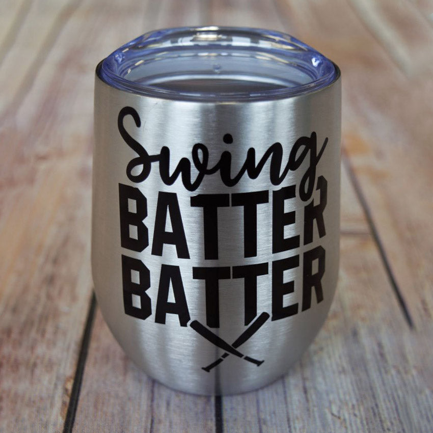 Swing Batter Batter Wine Tumbler