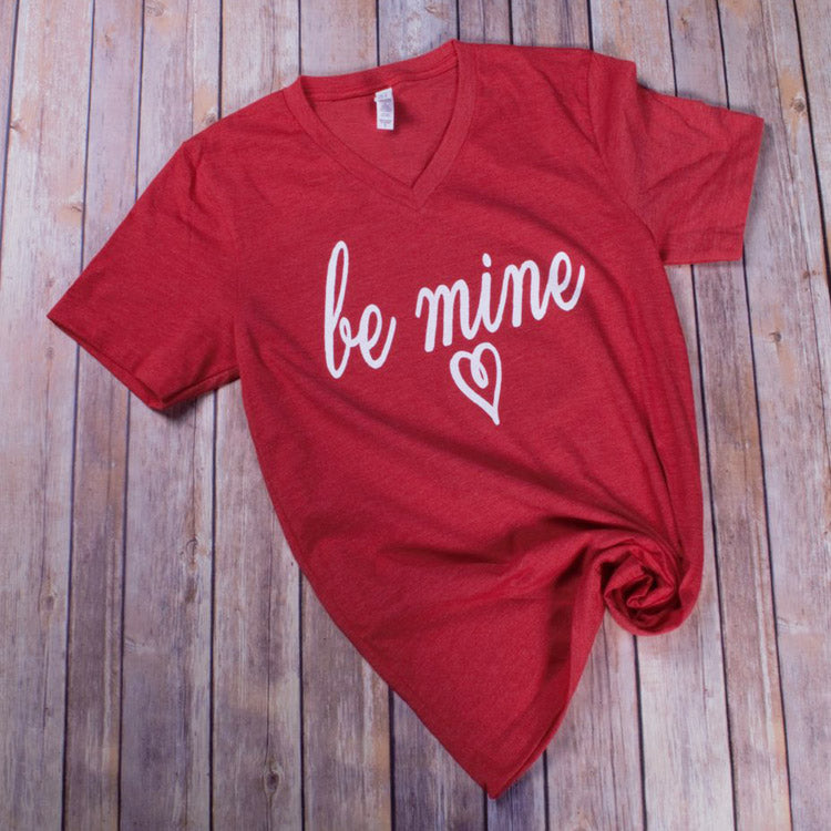 Be Mine Tee -- Red