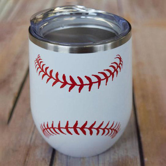 Baseball Stitch Wine Tumbler