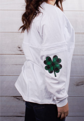 Shamrock Elbow Plaid -- White