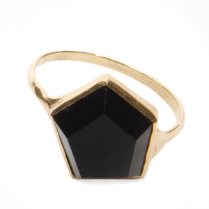 *10k Gold 3D Hex Ring