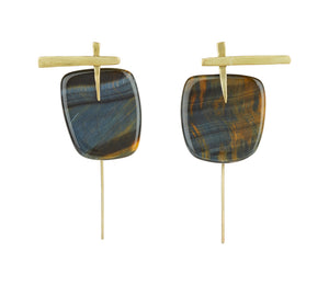 Tiger's Eye Crossroads Earrings