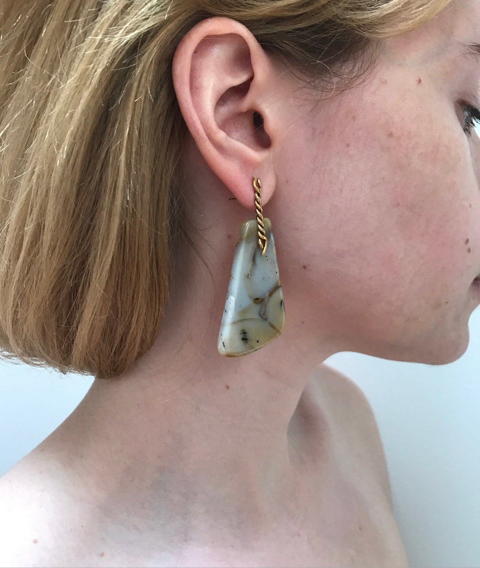 Blush Meander Earrings
