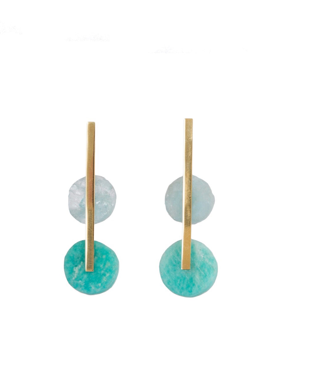 Aqua and Amazonite Candy Land Earrings