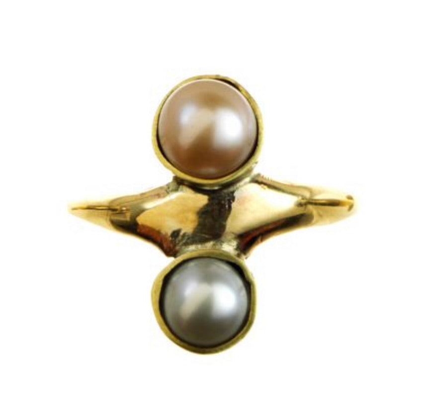 *Double Pearl Ring