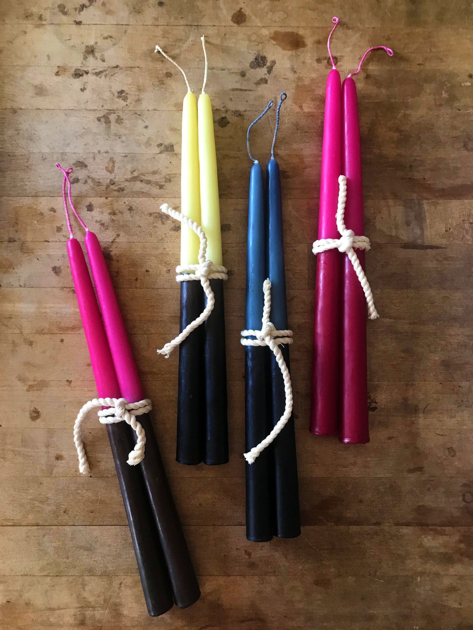*Handmade Beeswax Taper Candles