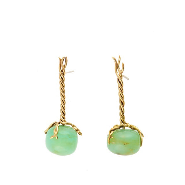 Celadon Opal Vine Earrings