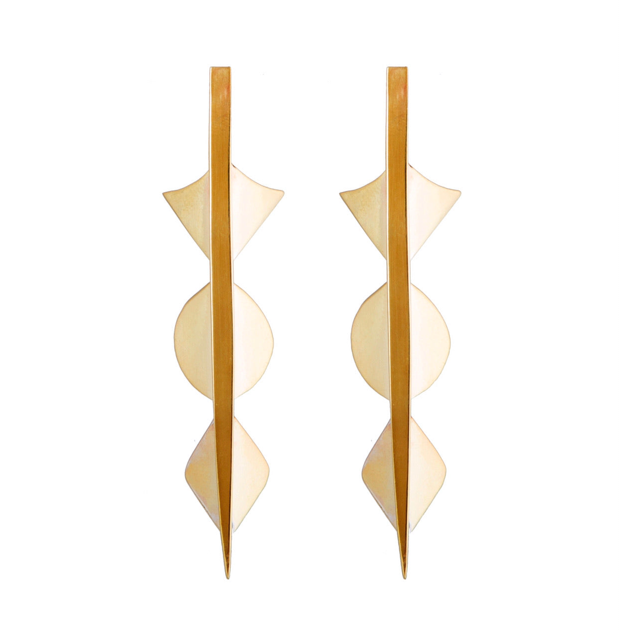 One-of-a-kind Harlequin Spear Earrings