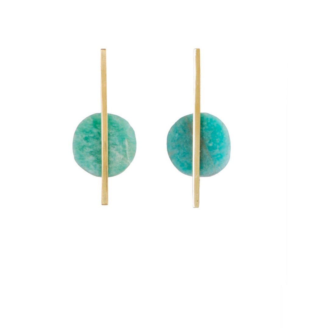 Amazonite Skinny Pop earrings