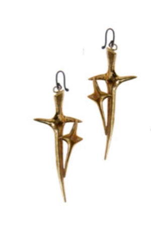 * CROSSING THORN EARRINGS