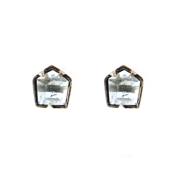 * Hexagonal Large Quartz Stone studs