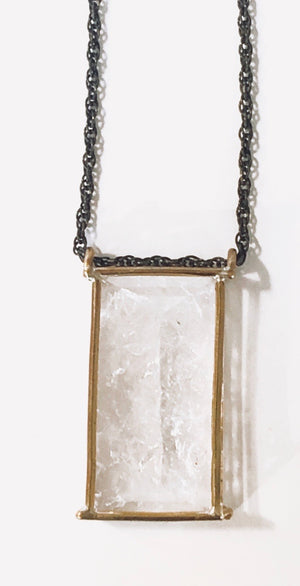 *Unique Mirror Quartz Necklace