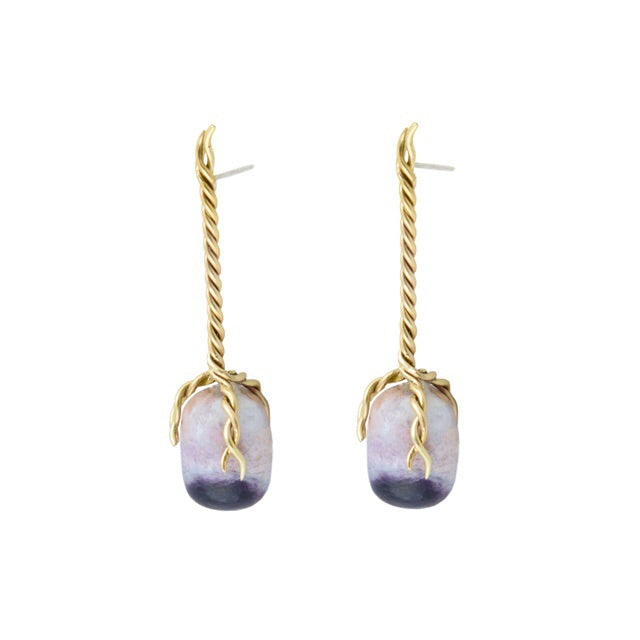 Wild Violet Opal Vine Earrings