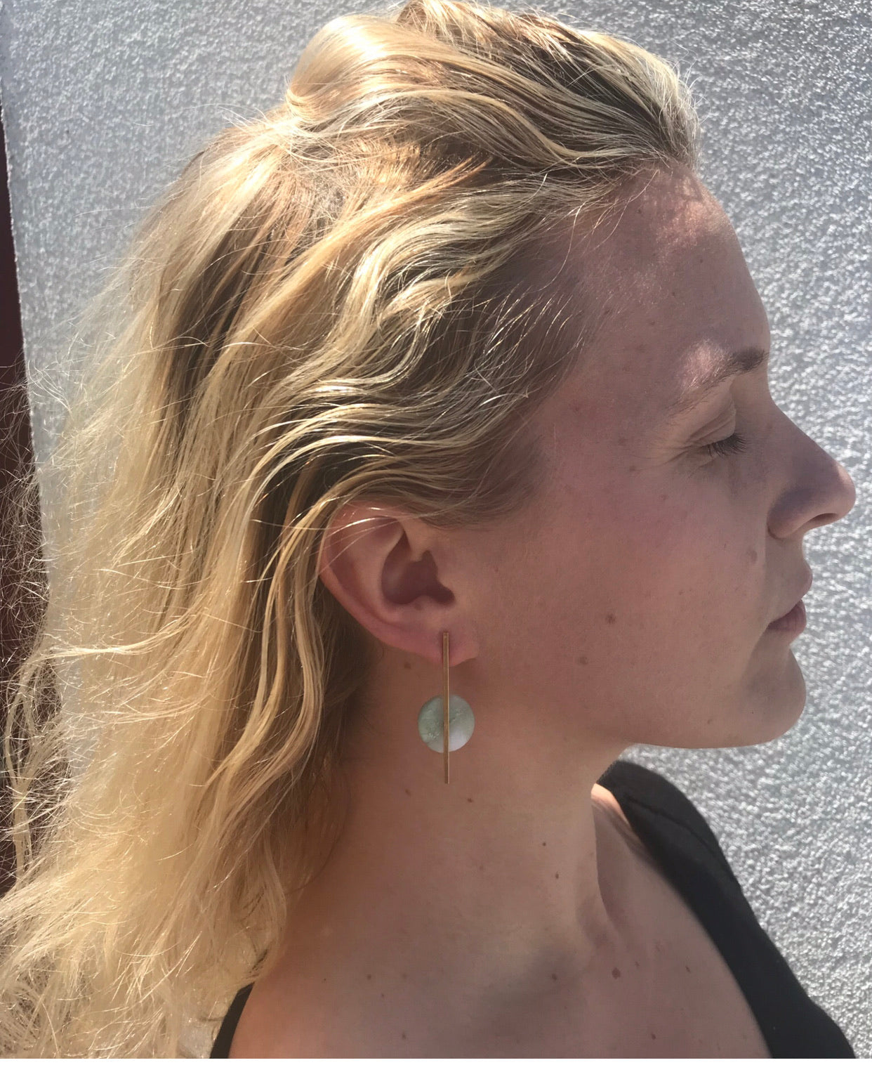 *Milky Quartz or Aqua Skinny Pop Earrings