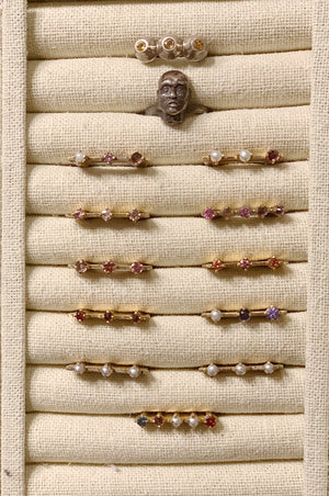 Archive Flat Stone Rings and Head Ring***