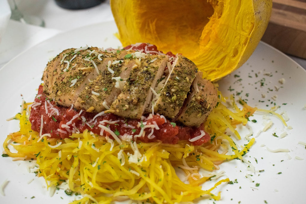 Spaghetti Squash with Italian Herb Chicken