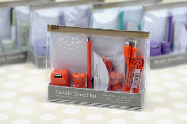 kathy ireland® CONNECT Mobile Travel Kit for iPhone® with Lightning Cable
