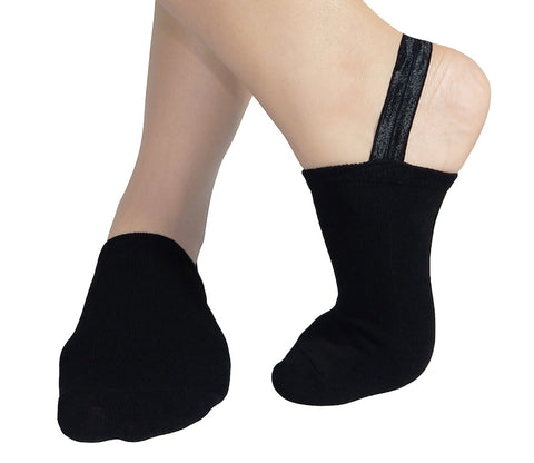 Halfsox® The Original Classic Sling-back No-show Half Socks (Black) (One Pair)