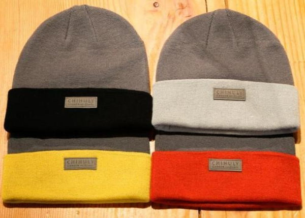 Leather Label Wool Knit Cap