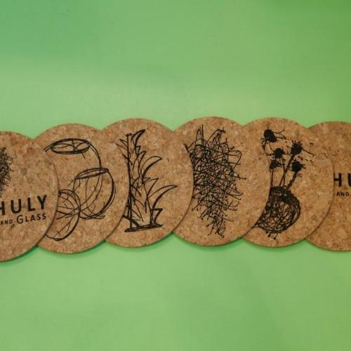 Chihuly Garden and Glass Cork Coaster Set