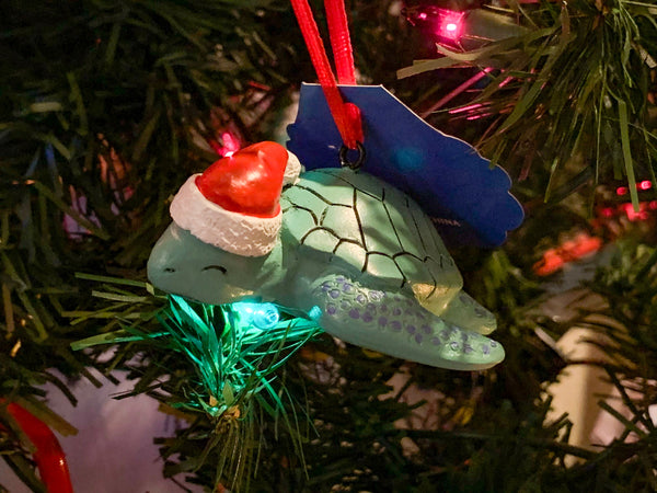 Shoogie the Sea Turtle Christmas Ornament