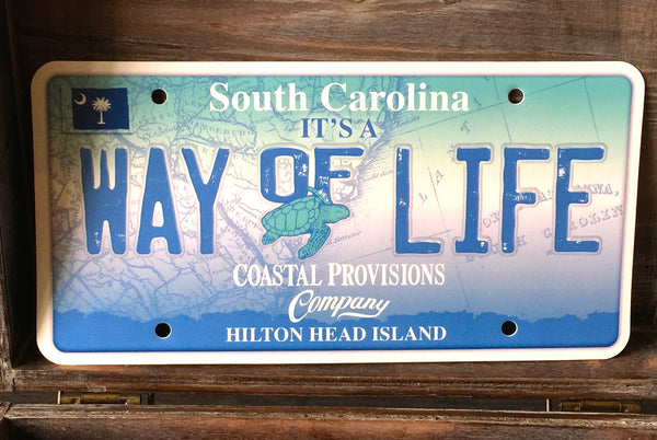 """It's A Way of Life"" License Plate"