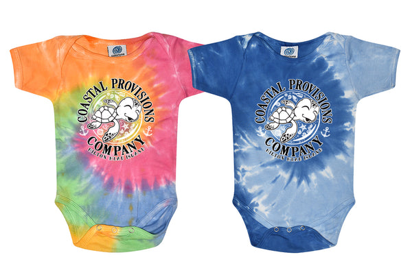 Infant Baby Shoogie Romper- Tie Dye