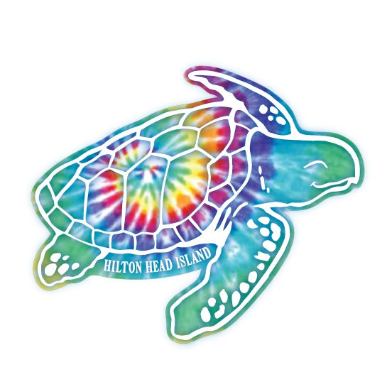 Tie Dye Shoogie Turtle Decal