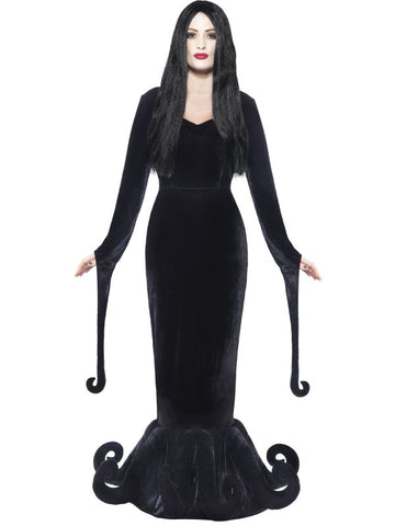 Duchess of the Manor Costume. Black Full length dress with Hem detail
