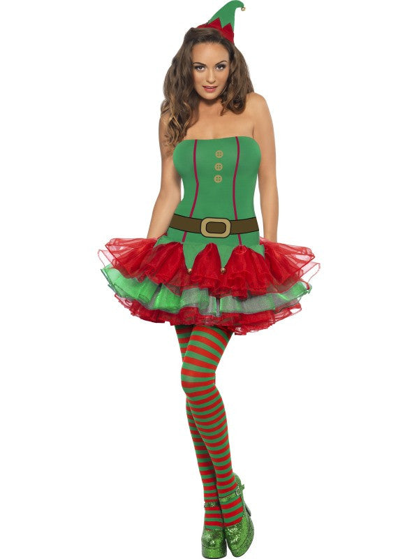 Fever Elf Costume - Tutu Dress and Hat, + include free Hold-ups**