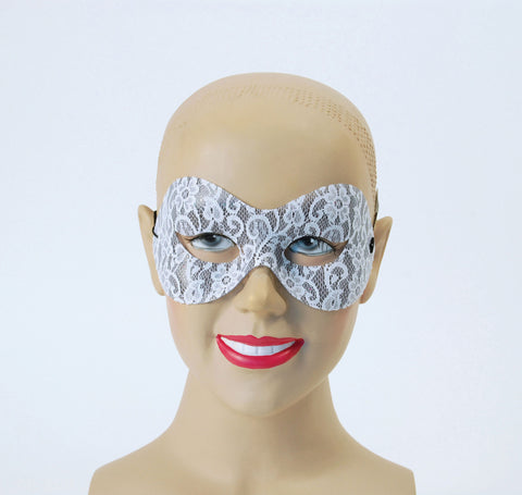 White Lace Domino mask
