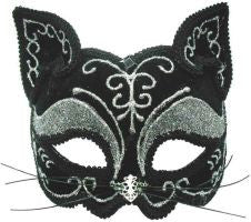 Black Cat Mask. Decorative on Headband
