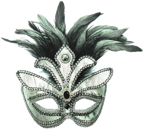 Silver Mask, Tall Feathers On band