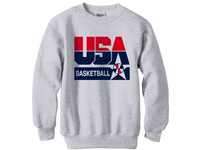 e8b7983ee48508 1992 Nba Olympic Dream Team usa logo sweatshirt shirt - Ash Grey